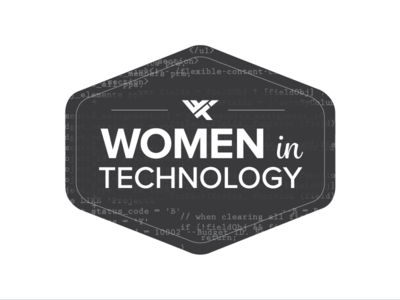 Women in Technology logo feminine code women in technology