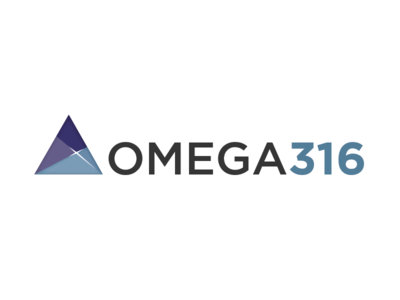 OMEGA316 Cyber Security Company Logo spiritual flare triangle cyber secuirty