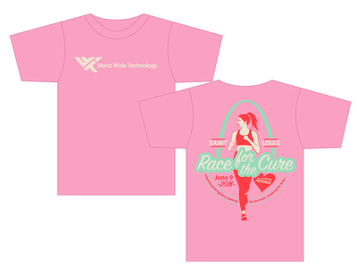 Race for the Cure team t-shirt sign painter font race for the cure stl running t-shirt design illustrator wwt t-shirt