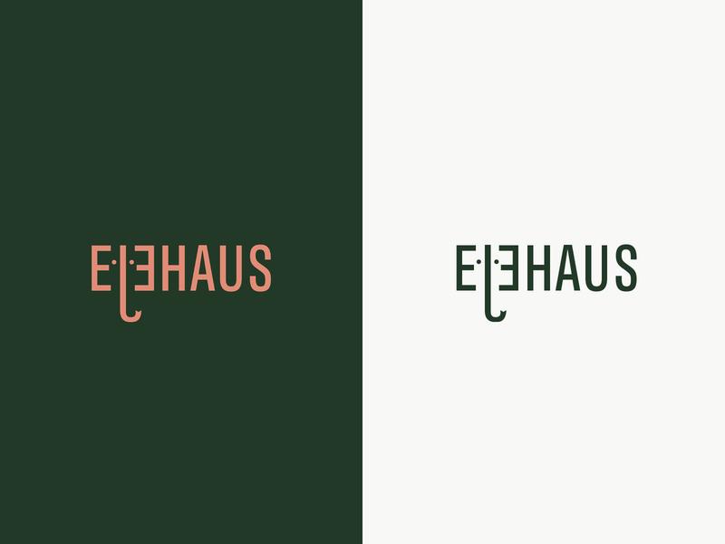 Elehaus Logo Exploration tweak logotype logos logo design logodesign logo identity graphic design elephant design corporate design corporate branding branding design branding architecture studio architecture logo architecture