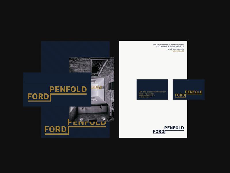 Ford Penfold visual identity #1 wordmark typography subterranean logo design logodesign logo identity graphic design design corporate design corporate branding branding design branding