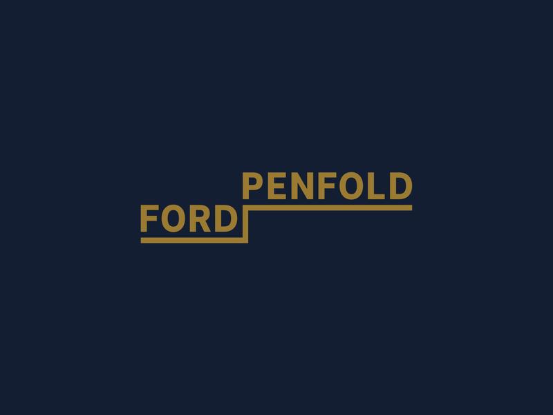 Ford & Penfold Logo Exploration development residential subterranean specialist subterranean basement wordmark logos logo design logodesign logo identity graphic design design corporate design corporate branding branding design branding