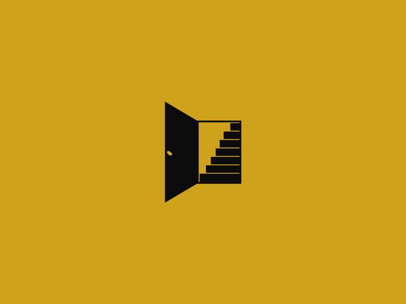 Open Door Logo Exploration branding and identity mark open stairs stairway door commercial residential logos logo design logodesign logo identity graphic design design corporate design corporate branding branding design branding