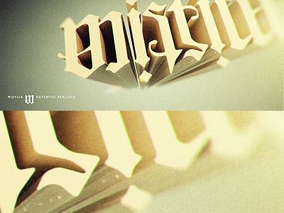 Mistica Logotype 3d 3d logo logotype typography ambigram extruded