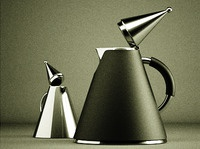 Cone Teapot and Creamer