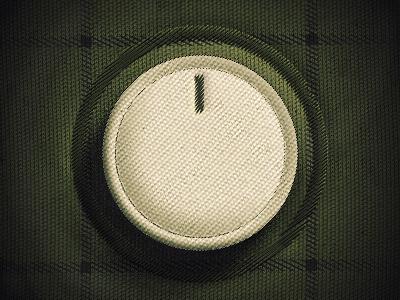 Fabric Dial knob dial ui fabric volume interface button skeuomorph green soft texture