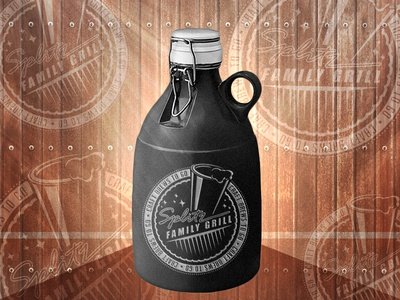 Splitz Family Grill Growler Logo