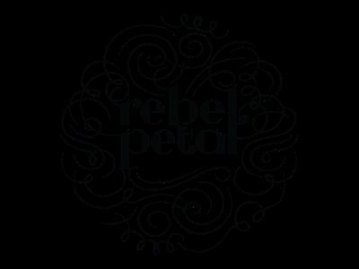Rebel Petal Logo typography illustration vector design logo