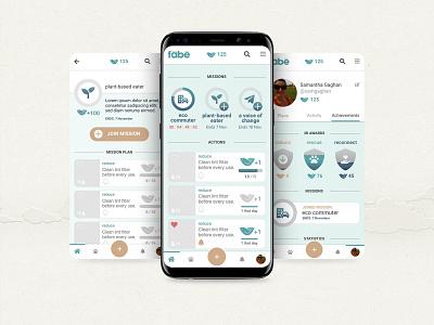Fabe App UI/UX probono sustainability gui volunteer design ux app ui