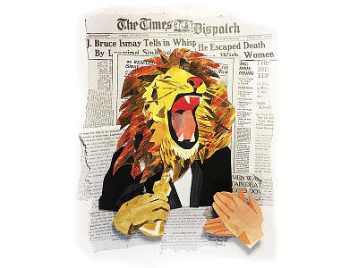 Leo the winner collage editorial illustration