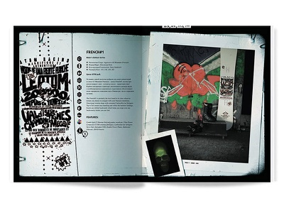 Atom Snowboarding print layout catalogue