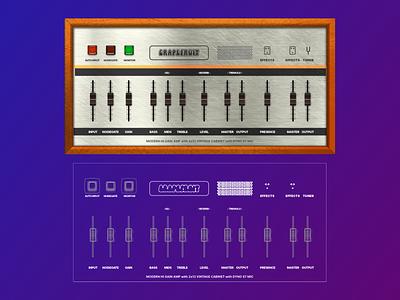 Guitar amp for iOS illustration ui guitar