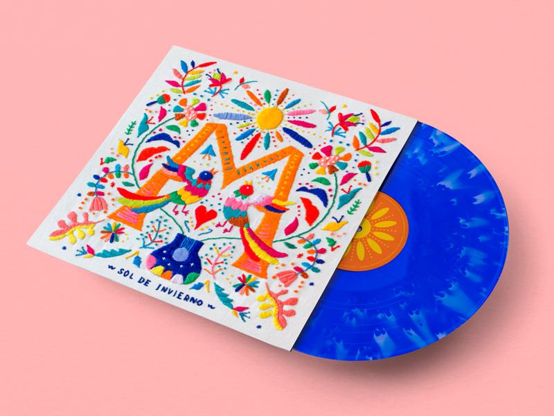 """""""Sol de Invierno"""" Moreira vinyl cover embroidery music art album cover design album cover"""