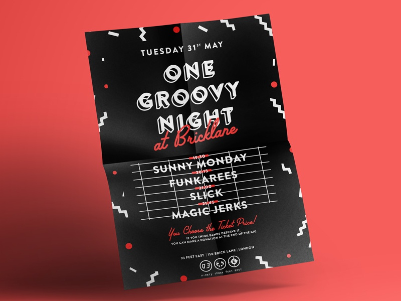 One Groovy Night poster london bricklane groovy funk music