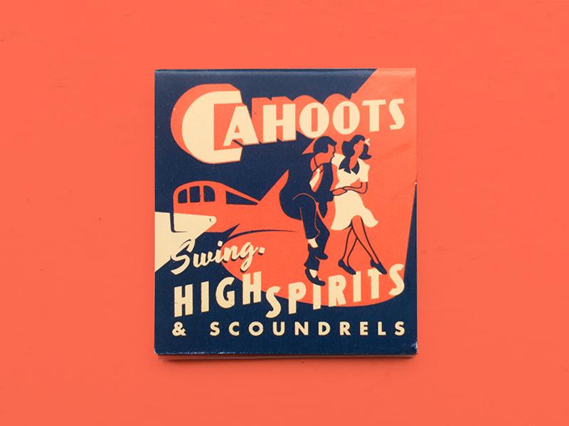 Cahoots - Matchbooks underground spirits scoundrels drinks cocktail cahoots swing vintage retro matchbook 50s