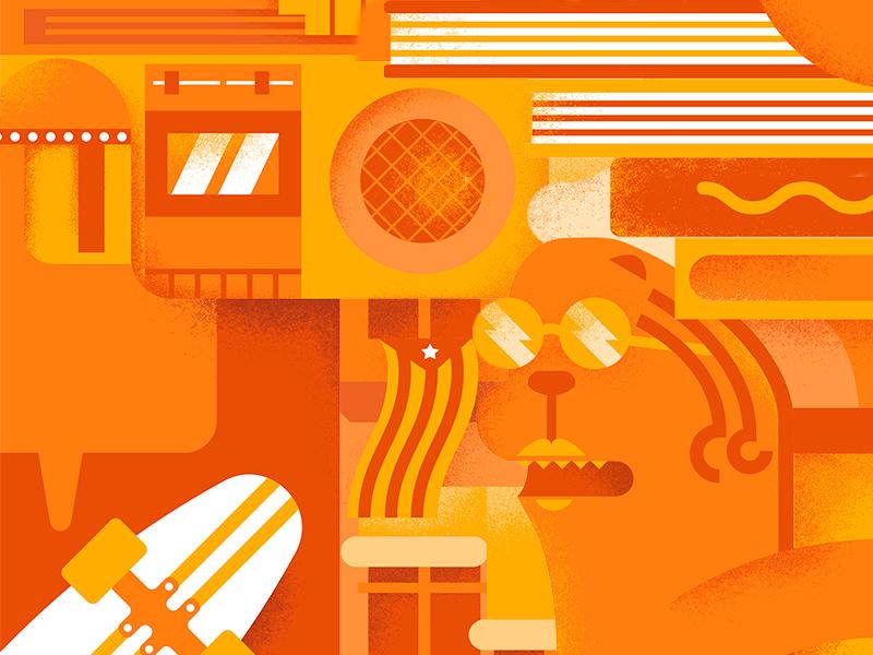 Acoustic Vell - Músics & Cómics illustrations spain gerona girona comic music festival