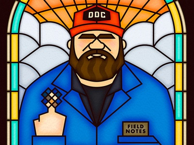 Aaron Draplin glass window church clouds ddc notes field portland lines thick draplin aaron