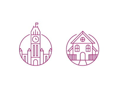 House + Parliament Icon set ottawa parliament house icon illustration
