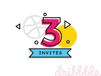 3 Dribbble Invite to Giveaway