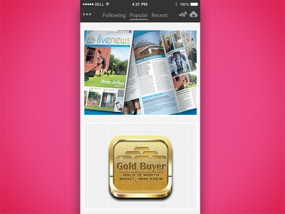 Iphone Dribbble Shots shots iphone ui dribble app user interface ui