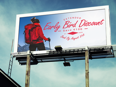 Billboard Advert billboard billboard advert early bird