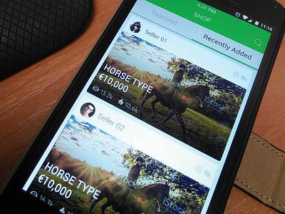 Horse UI mobile app app design ui user interface