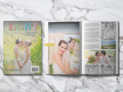 Irish LGBT Weddings Issue 06 illustrator indesign article layout weddings magazine wedding advert