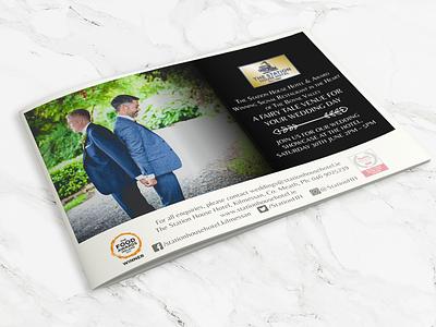 Station House Hotel indesign weddings illustrator wedding advert magazine advert