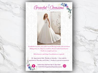 Graceful Occasions illustrator indesign article layout weddings magazine wedding advert