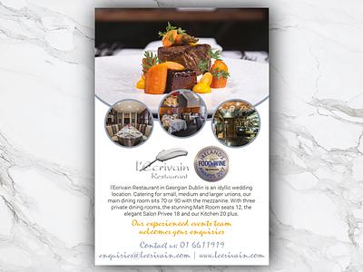 l'Ecrivain restaurant illustrator indesign article layout weddings magazine advert wedding advert