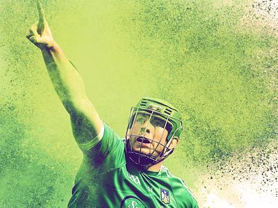 Luimneach Abú hurling all ireland 2018 colour dust photoshop action