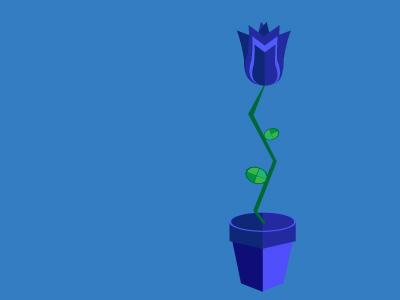 Isometric flower