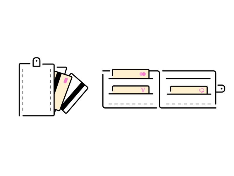 Icon Cards II web design mobile design product design mobile flat design illustration icon app ui design