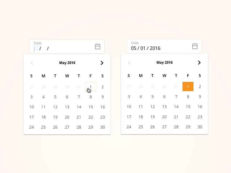 Calendar Picker simple calendar light calendar picker minimal design calendar picker calendar ui