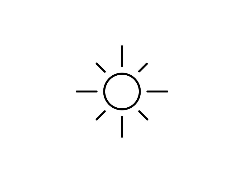 A simple sun icon  by David Ghent on Dribbble