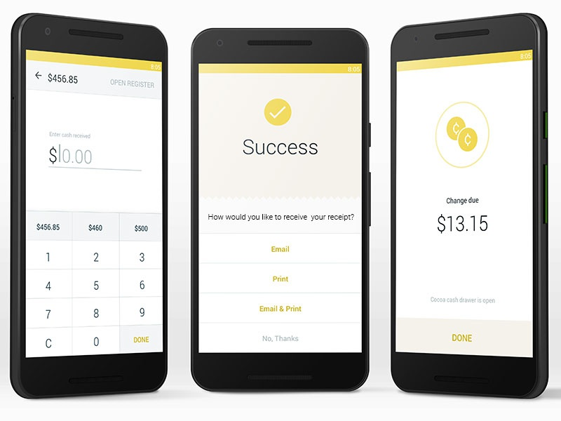 POS android app design mobile app android