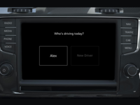 In-Car account selection for VW