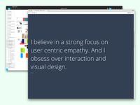Typography portfolio concept