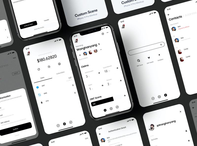 ONTO 3.0 - Blockchain Data Wallet wallet app ux minimal bitcoin ui minimalist crypto btc blockchain