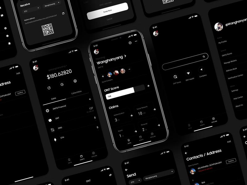 ONTO 3.0 - Blockchain Data Wallet minimal ui app ux wallet minimalist bitcoin crypto btc blockchain