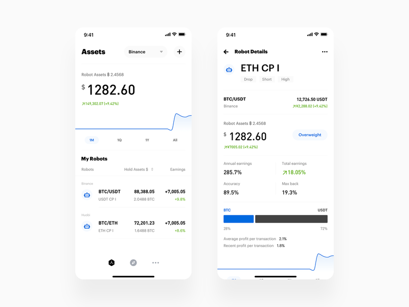 Crypto Quantitative Tool ux app minimal wallet ui bitcoin minimalist crypto btc blockchain