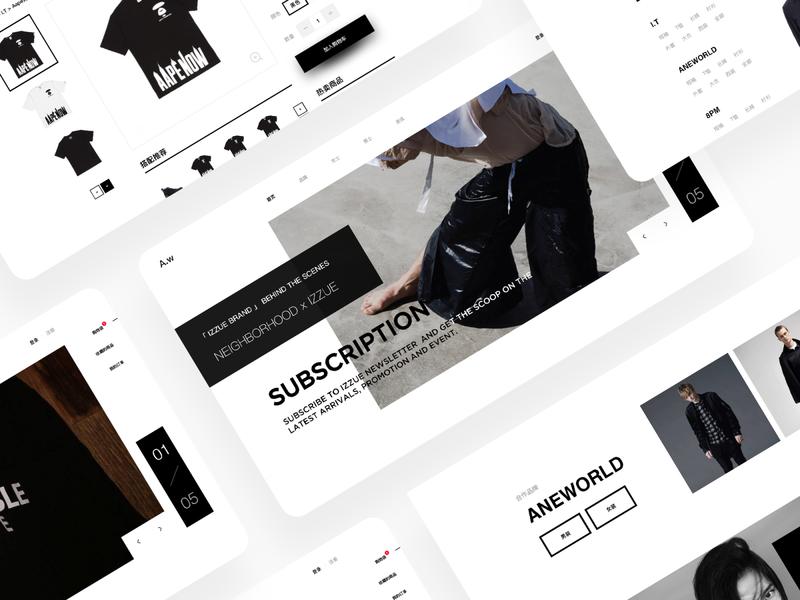 A.W Fashion Store landingpage ux app minimal wallet ui bitcoin minimalist crypto btc blockchain