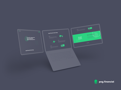 peg.financial Landing Page branding landingpage ux minimal bitcoin ui minimalist crypto btc blockchain
