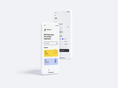 Crypto Defi APP defi app ux wallet minimal ui bitcoin minimalist crypto btc blockchain