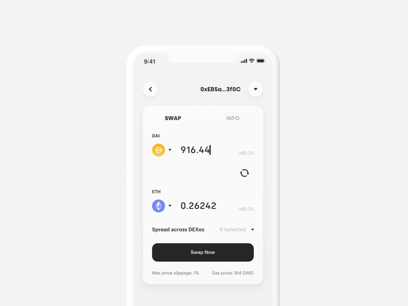 Crypto DeFi SWAP exchange swap defi app ux wallet minimal ui bitcoin minimalist crypto btc blockchain