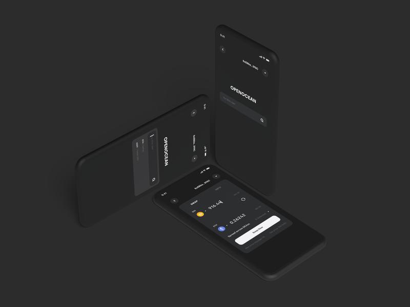 Crypto DeFi Dark Theme defi app ux wallet minimal ui bitcoin minimalist crypto btc blockchain