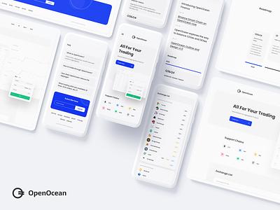 OpenOcean - Crypto Currency Swap 2.0 design landingpage app wallet ux minimal ui bitcoin minimalist crypto btc blockchain