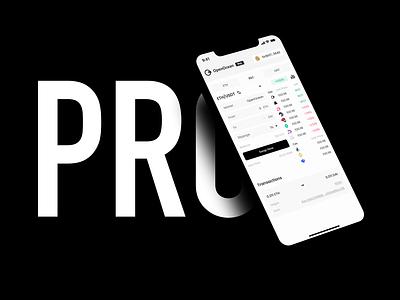 OpenOcean PRO dApp / Mobile currency exchange defi app wallet ux minimal ui bitcoin minimalist crypto btc blockchain