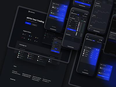 OpenOcean - Crypto DEX/CEX Exchange Platform Renewal swap currency exchange defi landingpage app wallet ux minimal ui bitcoin minimalist crypto btc blockchain