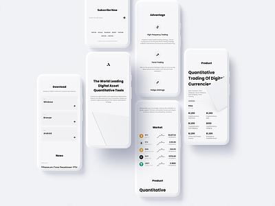 ATM - Crypto Assets Quantitative Tools exchange design defi landingpage app wallet ux minimal ui bitcoin minimalist crypto btc blockchain